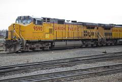 UP 9590 C44-9W (knelson27) Tags: train pacific union trains locomotive bnsf c45 p42 c44 mp15
