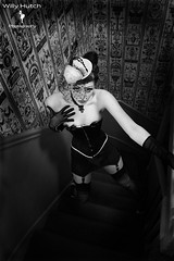 """""""Sneak"""" (Willy Hutch) Tags: stockings fetish photography glamour pumps highheels fishnet gloves 1950s corset suspenders hautecouture couture pinup nylon leggy strumpfhose strumpfhosen garters collants backseams seamedstockings ffnylons ffstockings misscobweb willyhutch"""