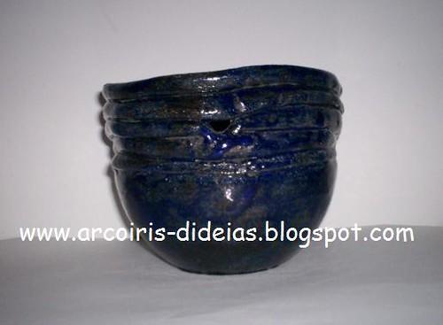 Taça Decorativa, em Grés Refractário (vidrada)