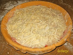 Empanada jamon y queso-queso rallado