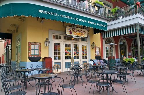 Jazz Kitchen Express Outdoor Cafe During Monring At Downtown Disney
