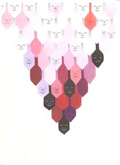 faces (Kar/ton) Tags: illustration pencils faces drawing line coloured