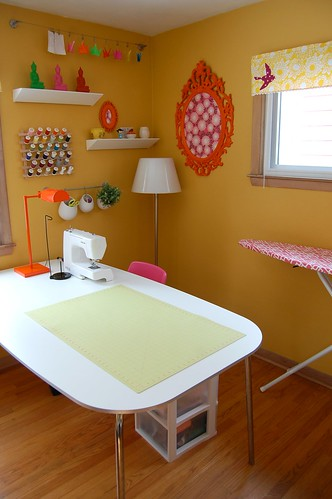 My sewing room by Jennifer Ladd handmade.
