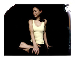 Portraits of Yoga Teachers - Meiling (*helloharry*) Tags: china film yoga project polaroid holga lomo exposure fuji shanghai exercise double teacher type instant om expired fitness asana impossible namaste instax 669 mudra intant 664 fp100c yplus giambarba