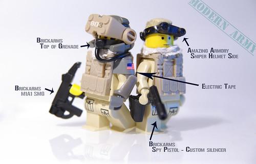 modern army custom minifigs