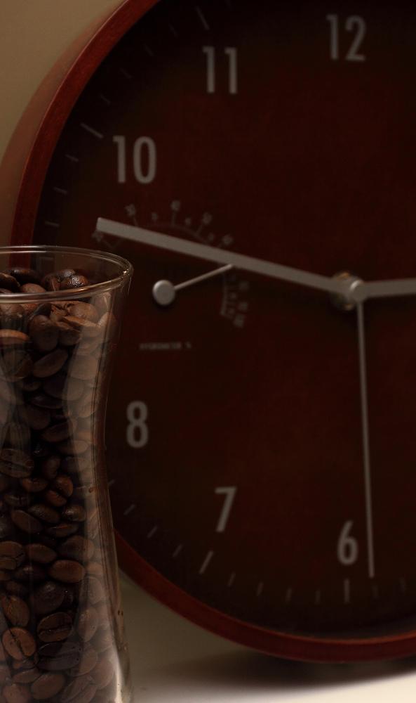 咖啡豆加時鐘