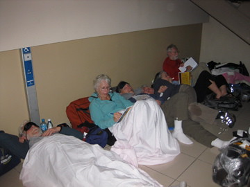 Cuba AyUUda members sleep in airport