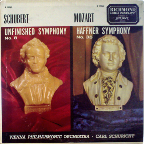 オリジナルは英DECCA盤 超高価のシューリヒト シューベルトの未完成交響曲と、モーツァルトのハフナー交響曲のカップリング。