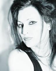 Just a bluish high-key me... (~lala~(Lisa)) Tags: blue light portrait selfportrait me face myself model nikon lisa sp highkey 365 selfie bluish d90 365days i nikond90 ~lala~ project36612010 365days2010 justabluishhighkeyme