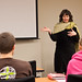 "Professor Heidi Winters Vogel leads a session called, ""Thinking outside the cubicle,"" during calling and career day."