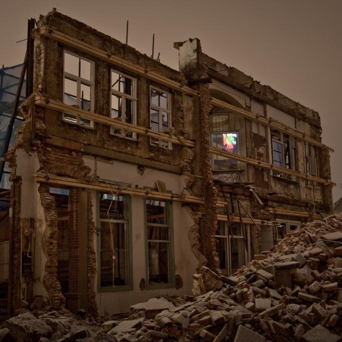 Ruine bij Nacht