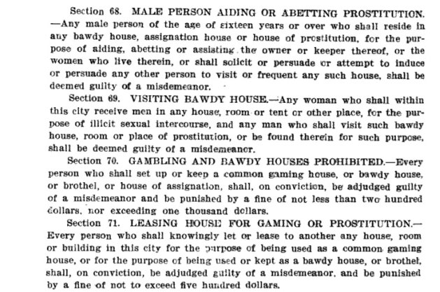 Joplin's 1903 ordinance against prostitution