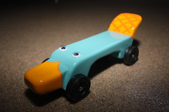 Perry the Platypus - Pinewood Derby Car (Shook Photos) Tags: car racecar boyscouts perry derby platypus phineas cubscouts pinewoodderby pinewoodderbycars ferb pinewoodderbycar agentp phineasferb phineasandferb perrytheplatypus