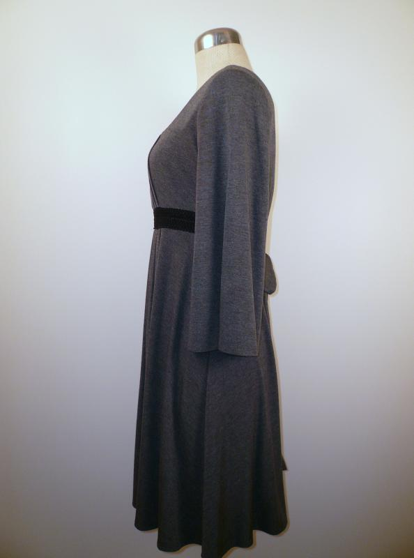 Grey_Knit_Pleated_Empire_Waist_Dress_Side