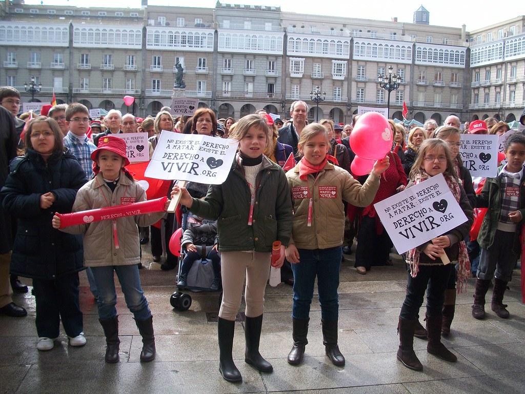 España, vida Si, en La Coruña, 7 de marzo de 2010