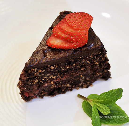 Strawberry Ganache Fudge Cake