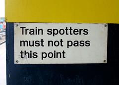 Train Spotters (R~P~M) Tags: uk greatbritain england station sign train unitedkingdom derbyshire railway derby derbys