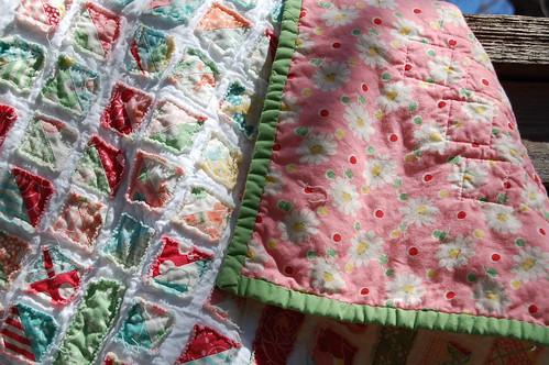 Sweet Ruffly Quilt - detail