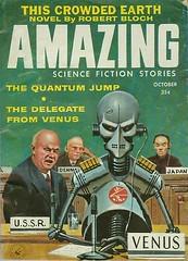 Amazing October 1958 (Piemouth) Tags: fiction vintage magazine robot amazing venus united alien science ephemera cover pulp fi nations sci delegate kruschev