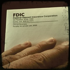 Usually not a good sign to receive a letter from the FDIC (swanksalot) Tags: chicago bank fdic iphone eated swanksalot sethanderson bankfailure federaldepositinsurancecorporation