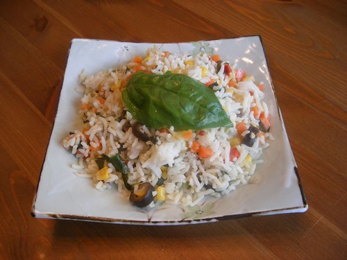 Fresh Veggie Rice Salad