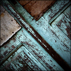 (Katerina.) Tags: blue brown texture urbandecay surface peelingpaint turquise 500x500 doordetail photographia haphazartblue haphazartgeometrics haphazartgrunge ministract haphazartsquare