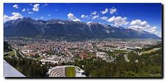 Innsbruck: Panorama von der Olympia-Schanze (Helmut Reichelt) Tags: geotagged austria tirol österreich inn innsbruck updatecollection geo:lat=47246727 geo:lon=11399785
