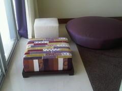 Purple Rain (Barjis Design) Tags: rain modern purple furniture designer exotic trendy patchwork pouf poof poufs barjis halahabib