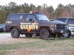 106 (stevenbr549) Tags: county chevrolet car truck ga georgia 4x4 jimmy police chevy sheriff suv blazer gmc k5 meriwether