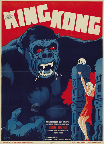KING KONG (1933) Danish one sheet rerelease 1948