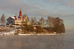 Klippan (Toinen Linja) Tags: winter sea snow building tower ice finland island frozen helsinki kaivopuisto