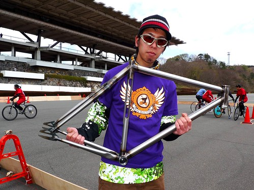 Crow, Tokyo Hardcourt Bike Polo Player, the test rider of Yabusame frame.
