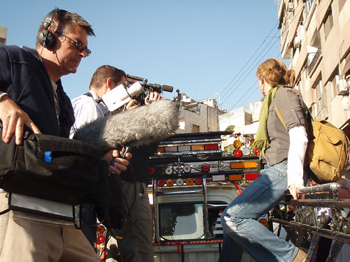 Globe Trekker film crew, Damascus