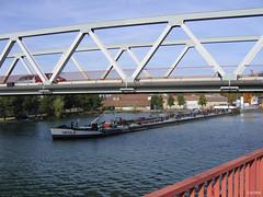 2008_Illzach_pontRD201 (Agence d'Urbanisme de la Region Mulhousienne) Tags: pont pniche illzach rd201