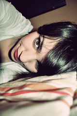 Last Day Of Magic (porcupyne) Tags: red brown girl eyes lips pale redlips browneyes darkhair