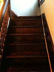 stairs stained