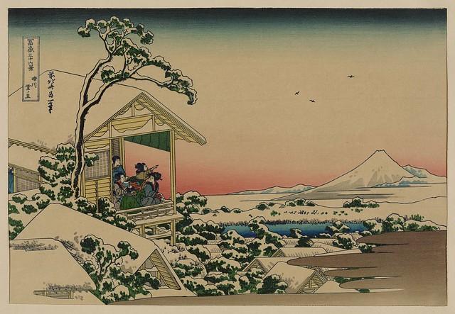 [Teahouse at Koishikawa the morning after a snowfall] (LOC)