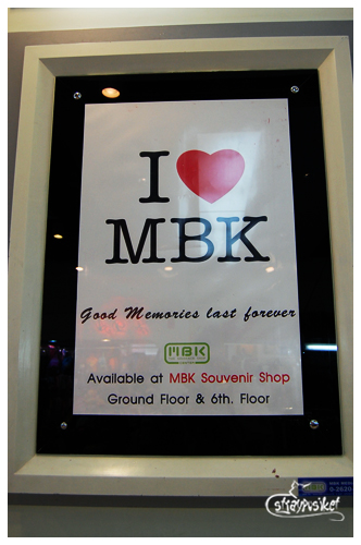 bangkok shopping - i love MBK