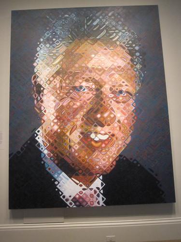 Clinton by Chuck Close