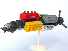 Space Trucker (Legoloverman) Tags: ship space transport micro maersk microscale colonialmovers