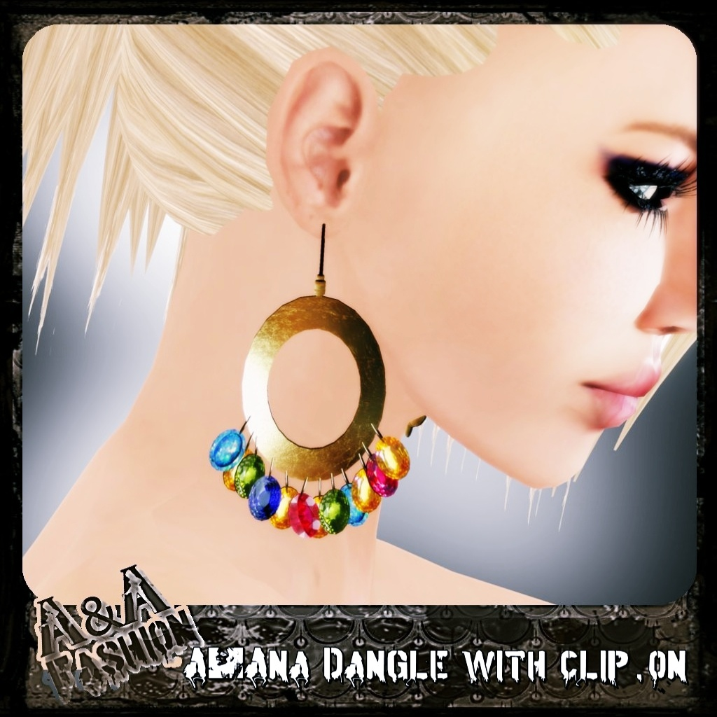 A&Ana Dangle with clip.on Earrings