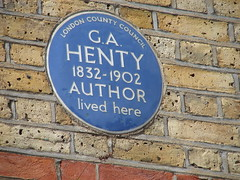 Photo of G. A. Henty blue plaque
