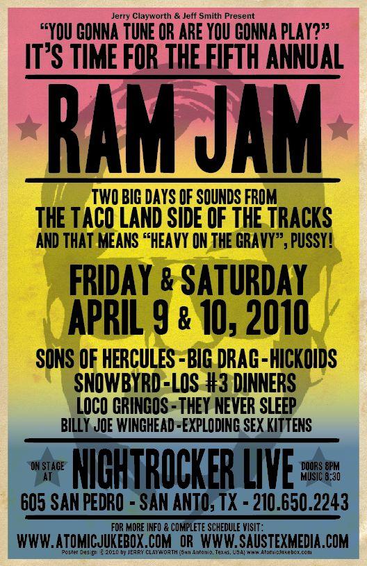 The 5th Annual RAM JAM (Taco Land fest) San Antonio, TX 4/2010