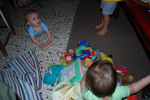 Savannah gets all the toys!