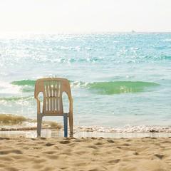 i still want to pretend... (n.elle) Tags: ocean sea water island boat nicole sand chair christian sparkle jamaica caribbean negril 2010 stillpretendingimthere