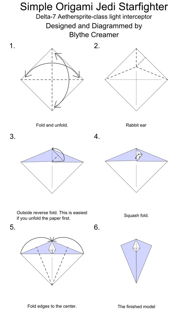 How to Fold | Origami yoda instructions, Origami yoda, Star wars ... | 1024x585