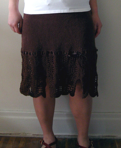 Lacy Skirt with Bows from knit cafe