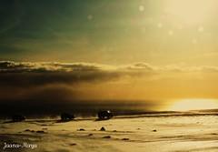 (Jaana-Marja) Tags: sea sky sun snow cars ice sunshine clouds iceland driving stones glacier mrdalsjkull sailsevenseas