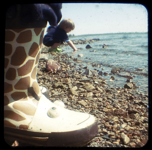 Boots on the beach