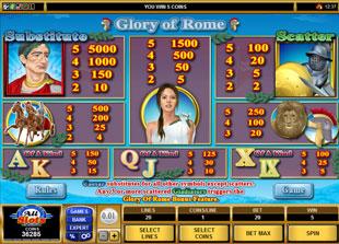 free Glory of Rome slot mini symbol